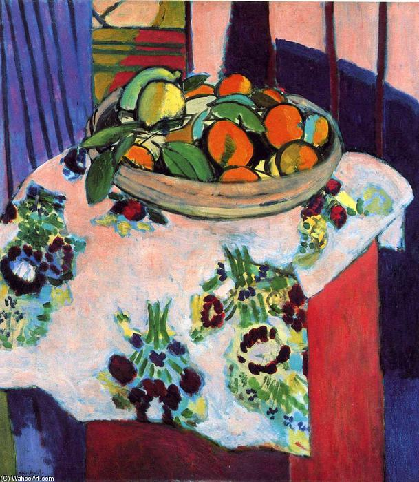 Basket with Oranges, 1913 by Henri Matisse (1869-1954, France) |  | WahooArt.com