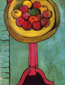 Henri Matisse - Apples on a Table, Green Background