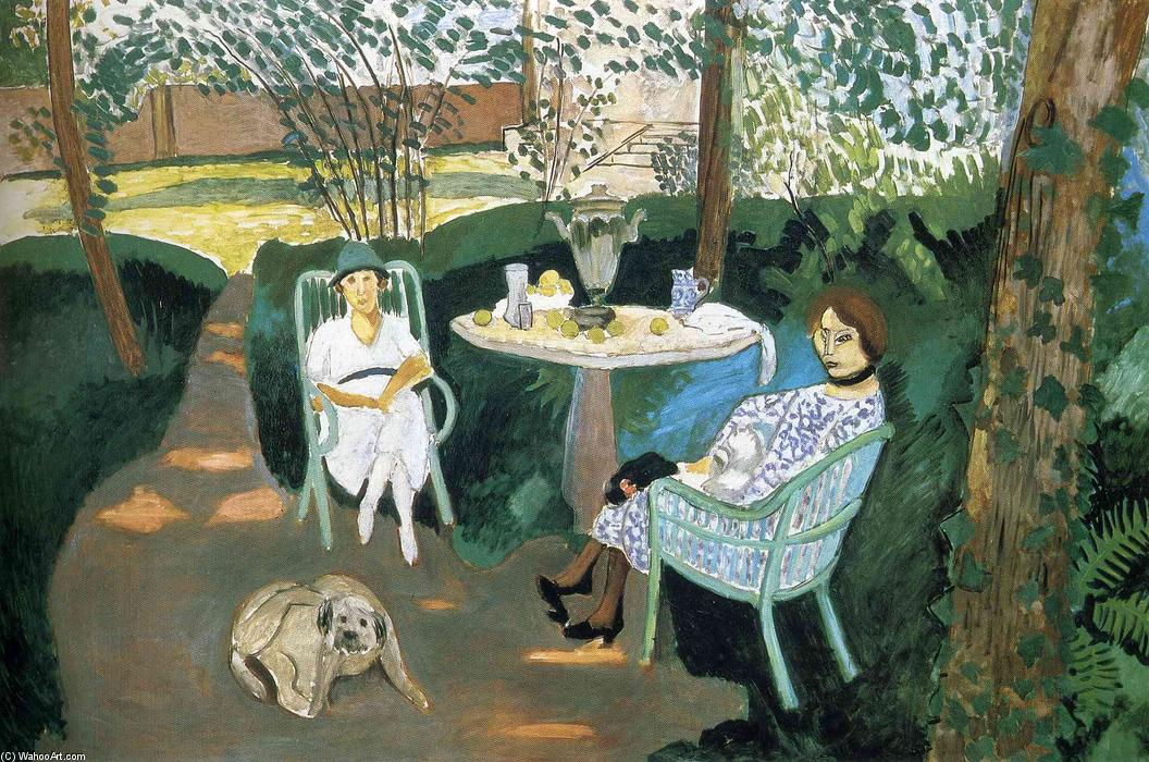 Tea in the Garden, Oil On Canvas by Henri Matisse