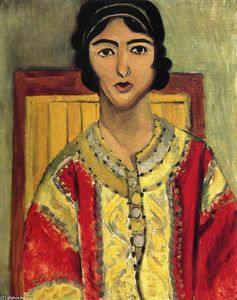 Henri Matisse - Lorette with a Red Dress
