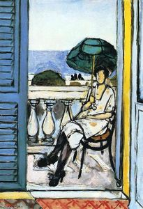 Henri Matisse - Woman with a Green Parasol on a Balcony
