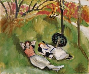 Henri Matisse - Two Figures Reclining in a Landscape