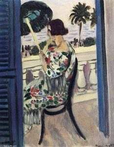 Henri Matisse - Woman holding umbrella
