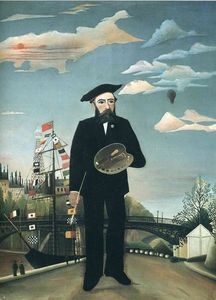 Henri Julien Félix Rousseau (Le Douanier) - Self Portrait from L'ile Saint Louis