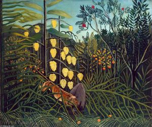 Henri Julien Félix Rousseau (Le Douanier) - Tropical Forest: Battling Tiger and Buffalo