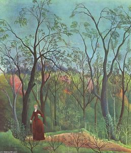 Henri Julien Félix Rousseau (Le Douanier) - The Walk in the Forest