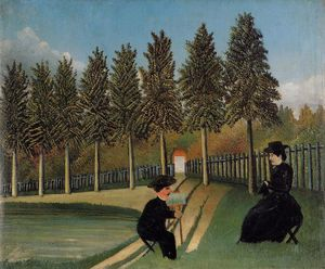 Henri Julien Félix Rousseau (Le Douanier) - The Artist Painting his Wife