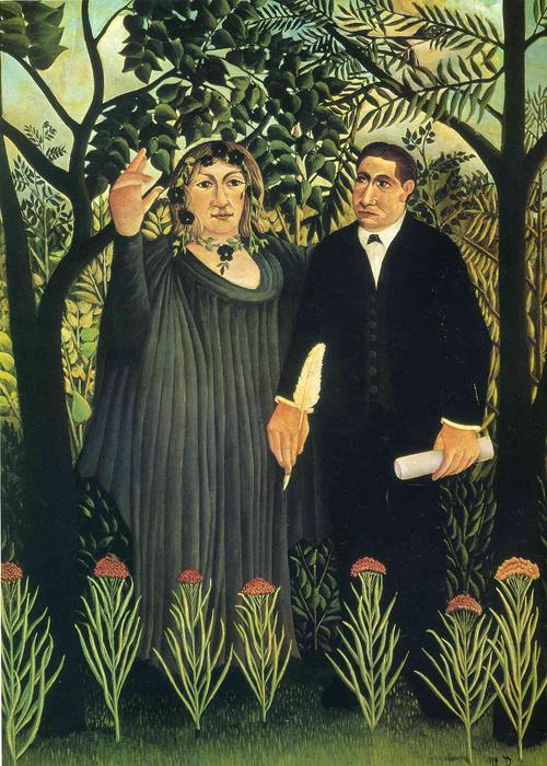 The Muse Inspiring the Poet, Oil On Canvas by Henri Julien Félix Rousseau (Le Douanier)