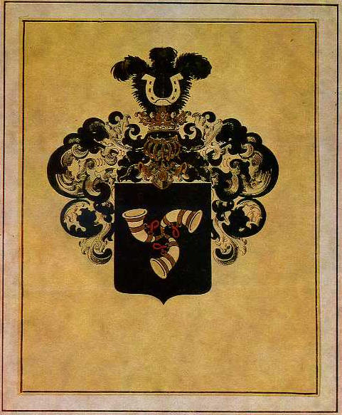 Family Coat of Arms of Narbut family, 1914 by Heorhiy Narbut (1886-1920, Ukraine)