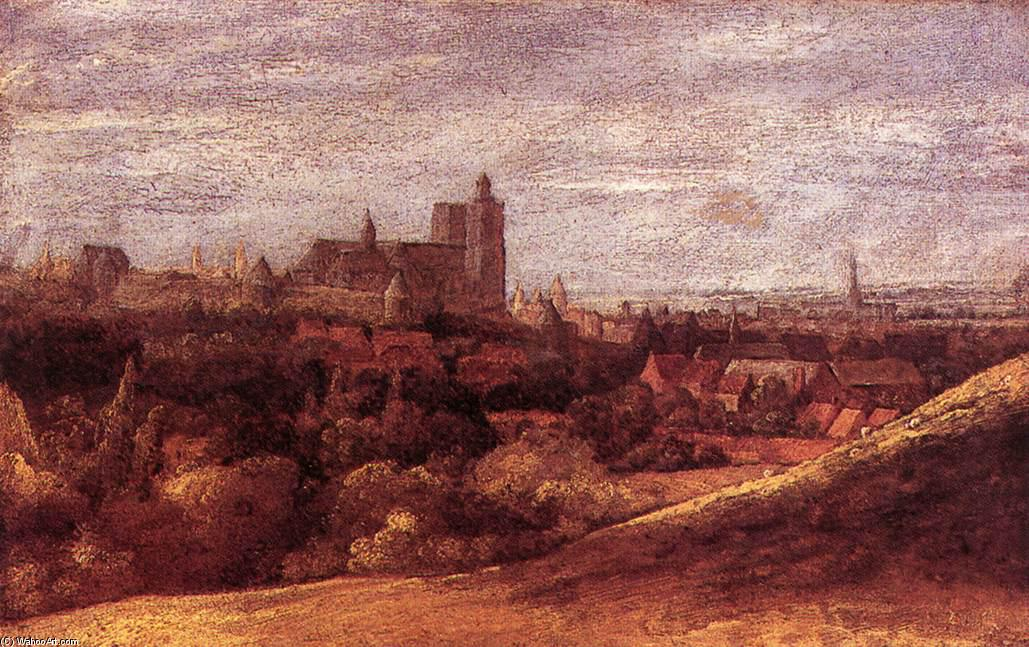 View of Brussels from the North-East, 1625 by Hercules Seghers (1590-1638, Netherlands) | Famous Paintings Reproductions | WahooArt.com