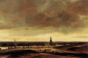 Hercules Seghers - View of Rhenen