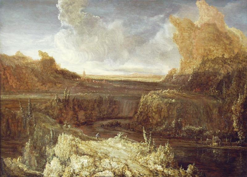 Mountainous landscape by Hercules Seghers (1590-1638, Netherlands) | Painting Copy | WahooArt.com