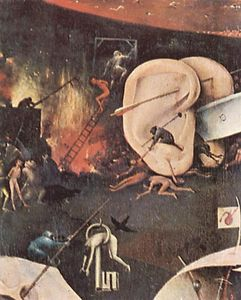 Hieronymus Bosch - The Garden of Earthly Delights (detail) (10)