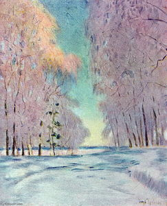Igor Emmanuilovich Grabar - The Frost. Sunset