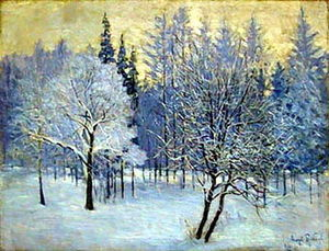 Igor Emmanuilovich Grabar - The Frost. Straw-Coloured Sky