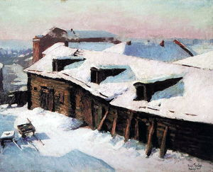 Igor Emmanuilovich Grabar - Old Barn in Winter