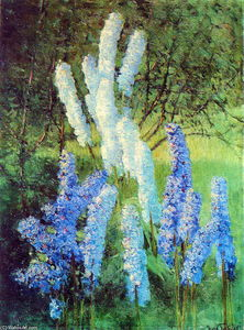 Igor Emmanuilovich Grabar - Delphiniums in the Garden