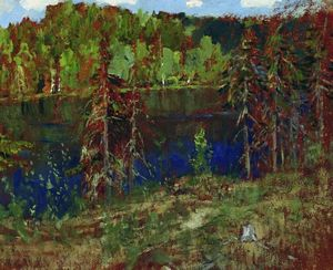 Isaak Ilyich Levitan - Lake in the forest
