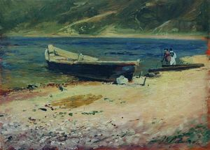 Isaak Ilyich Levitan - Boat on the coast