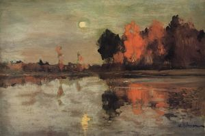 Isaak Ilyich Levitan - Twilight. Moon.
