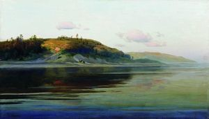 Isaak Ilyich Levitan - Summer evening. River.