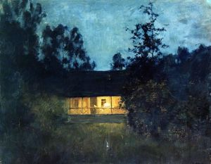 Isaak Ilyich Levitan - At the summer house in twilight