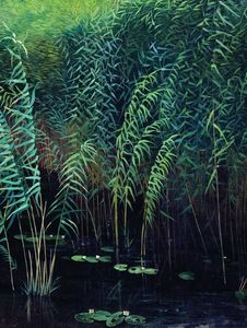 Isaak Ilyich Levitan - Reeds and water lilies