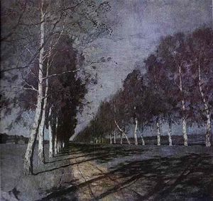 Isaak Ilyich Levitan - Moonlit Night. A Village