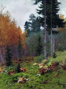 Isaak Ilyich Levitan - In the forest at autumn