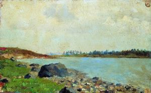 Isaak Ilyich Levitan - At Moscow-river
