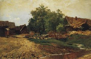 Isaak Ilyich Levitan - Village Savvinskaya near Zvenigorod at summer