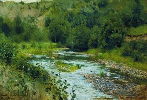 Isaak Ilyich Levitan - A river