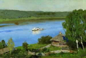 Isaak Ilyich Levitan - Landscape with a steamboat