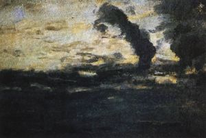 Isaak Ilyich Levitan - Cloudy sky. Twilight.