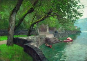 Isaak Ilyich Levitan - At the lake Como. Enbankment.