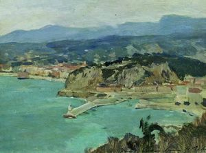 Isaak Ilyich Levitan - At the lake Como. Italy.