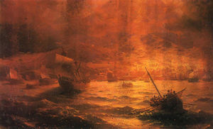 Ivan Aivazovsky - The Ruins of Pompeii
