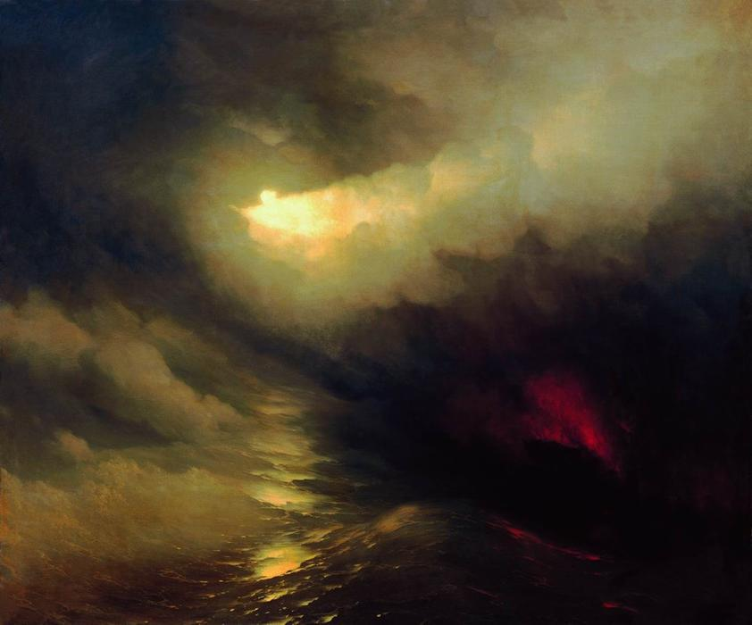 Creation of the World, 1864 by Ivan Aivazovsky (1817-1900, Russia) | Reproductions Ivan Aivazovsky | WahooArt.com