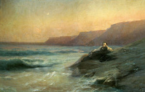 Ivan Aivazovsky - Pushkin on the coast Black Sea