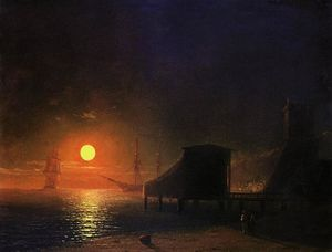 Ivan Aivazovsky - Moonlight in Feodosia