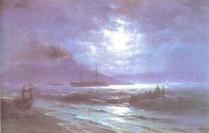 Ivan Aivazovsky - The Bay of Naples by Moonlight