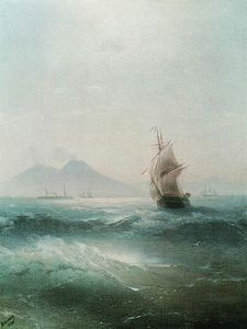 Ivan Aivazovsky - The Bay of Naples. View of Vesuvius