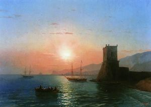 Ivan Aivazovsky - Sunset in Feodosia