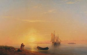Ivan Aivazovsky - The shores of Dalmatia