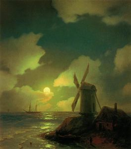 Ivan Aivazovsky - Windmill on the Sea Coast