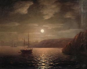 Ivan Aivazovsky - Lunar night on the Black sea