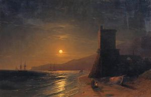 Ivan Aivazovsky - Lunar night