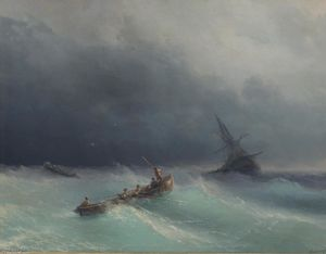 Ivan Aivazovsky - Storm at sea