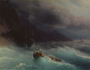 Ivan Aivazovsky - The Shipwreck on Black Sea
