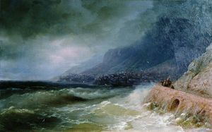 Ivan Aivazovsky - Surf near coast of Crimea
